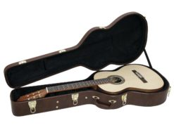 DIMAVERY Form case classical guitar, brown