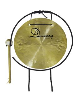 DIMAVERY Gong, 25cm with stand/mallet