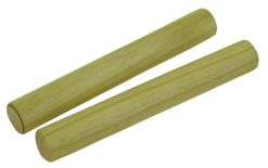 DIMAVERY Hardwood Claves, nature 2x