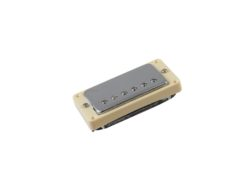 DIMAVERY Humbucker with silvercap w. frame