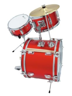 DIMAVERY JDS-203 Kids Drum Set, red