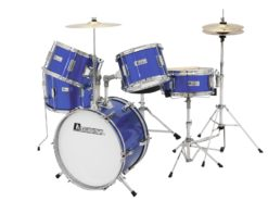 DIMAVERY JDS-305 Kids Drum Set, blue