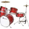 DIMAVERY JDS-305 Kids Drum Set, red