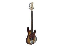 DIMAVERY MM-501 E-Bass, fretless, tobacco