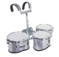 DIMAVERY MT-330 Marching Drum Set, silver