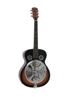 DIMAVERY RS-300 Resonator guitar sunburst