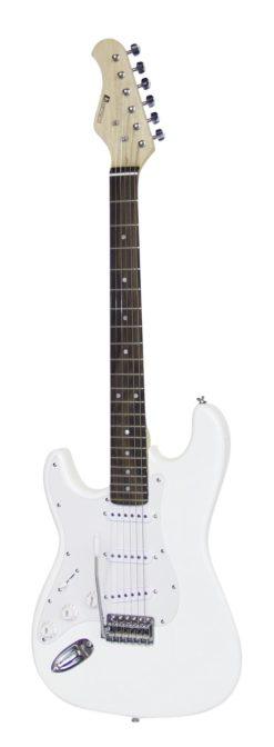 DIMAVERY ST-203 E-Guitar LH, white