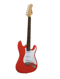 DIMAVERY ST-203 E-Guitar, red