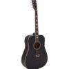 DIMAVERY STW-40 Western guitar, black