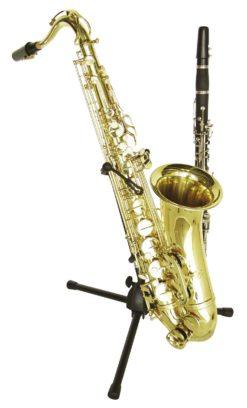 DIMAVERY Stand f. Saxophone + 1 Clarinet