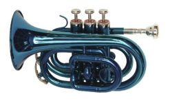 DIMAVERY TP-300 Bb Pocket Trumpet, blue