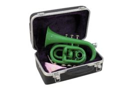 DIMAVERY TP-300 Bb Pocket Trumpet, green