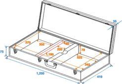 DIMAVERY Wooden Case for E-Bass, rectangular