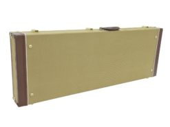 DIMAVERY Wooden Case for E-Guitars, tweed