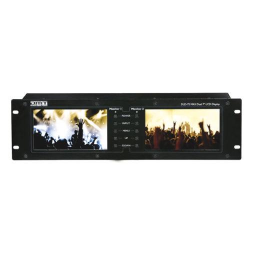 """DLD-72 MKII Doppio display da 7"""" con link HDMI"""