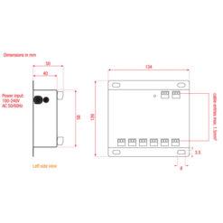 DS-6 Splitter DMX a 6 vie (installazione a parete)