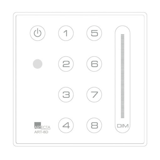 Domotion ART-8D controller a 8 canali, Bianco