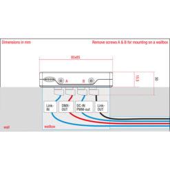 Domotion DLC-4 MKII Controller da parete, RGBW, 4 scene, colore bianco