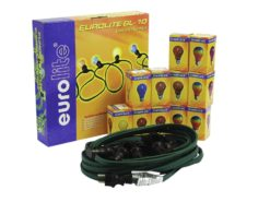 EUROLITE BL-10 E-27 Belt Light Chain with 12 Bulbs