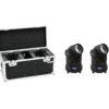 EUROLITE Set 2x LED TMH-X1 Moving-Head Beam + Case