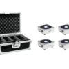 EUROLITE Set 4x AKKU Flat Light 1 silber + Case
