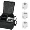 EUROLITE Set 4x AKKU UP-4 HCL Spot WDMX wh + SB-4 Soft-Bag