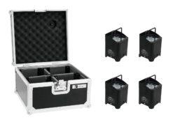 EUROLITE Set 4x AKKU UP-4 QCL Spot WDMX + Case
