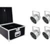EUROLITE Set 4x LED PAR-56 QCL Short sil + PRO Case