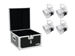 EUROLITE Set 4x LED PAR-56 RGB sil + Case