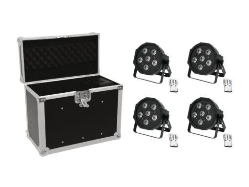 EUROLITE Set 4x LED SLS-603 + Case EC-SL4M size M