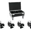 EUROLITE Set 4x LED THA-60PC + Case