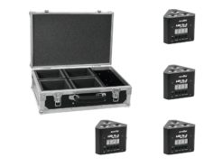 EUROLITE Set 4x LED TL-3 TCL 3x3W Trusslight + Case