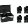 EUROLITE Set 4x LED TMH-14 Moving-Head Zoom Wash + Case
