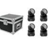 EUROLITE Set 4x LED TMH-7 + Case