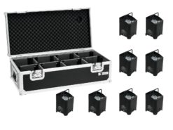 EUROLITE Set 8x AKKU UP-4 QCL Spot + Case