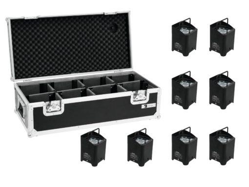 EUROLITE Set 8x AKKU UP-4 QCL Spot WDMX + Case
