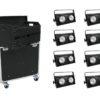 EUROLITE Set 8x Audience Blinder 2x100W LED COB + Case