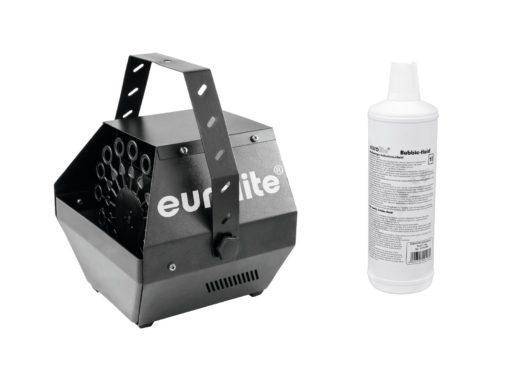 EUROLITE Set B-100 Bubble machine black DMX + bubble fluid 1l