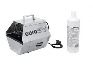 EUROLITE Set B-90 Bubble machine silver + bubble fluid 1l
