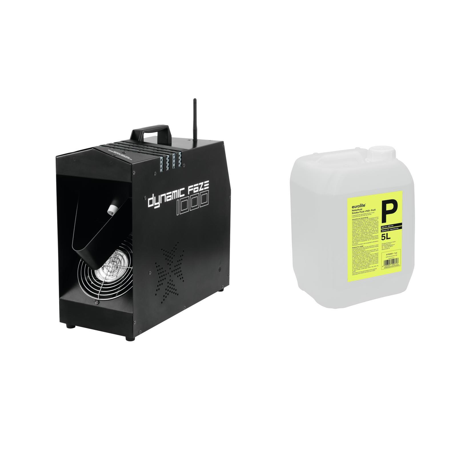 EUROLITE Set Dynamic Faze 1000 + Smoke Fluid -P2D- 5l