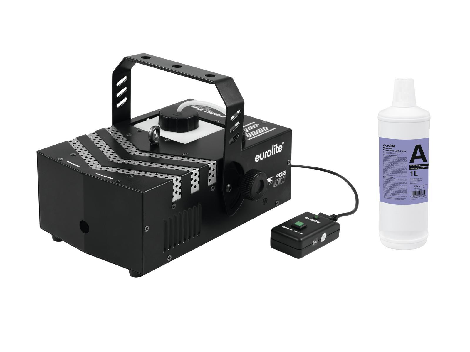 EUROLITE Set Dynamic Fog 700 + Smoke fluid -A2D- 1l