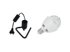 EUROLITE Set LED BC-1 6400K + Triangle base black