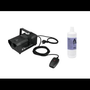 EUROLITE Set N-10 black + A2D Action smoke fluid 1l