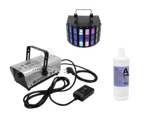 EUROLITE Set N-10 silber + A2D Fluid 1l + LED Mini D-5