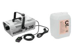 EUROLITE Set N-200 Smoke machine + C2D Smoke fluid 5l