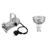 EUROLITE Set PAR-16 Spot sil + GU-10 230V COB 1x3W LED 2700K