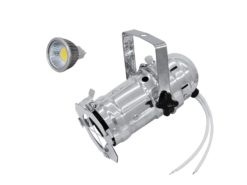 EUROLITE Set PAR-16 Spot sil + MR-16 12V GX-5,3 5W LED COB 6400K