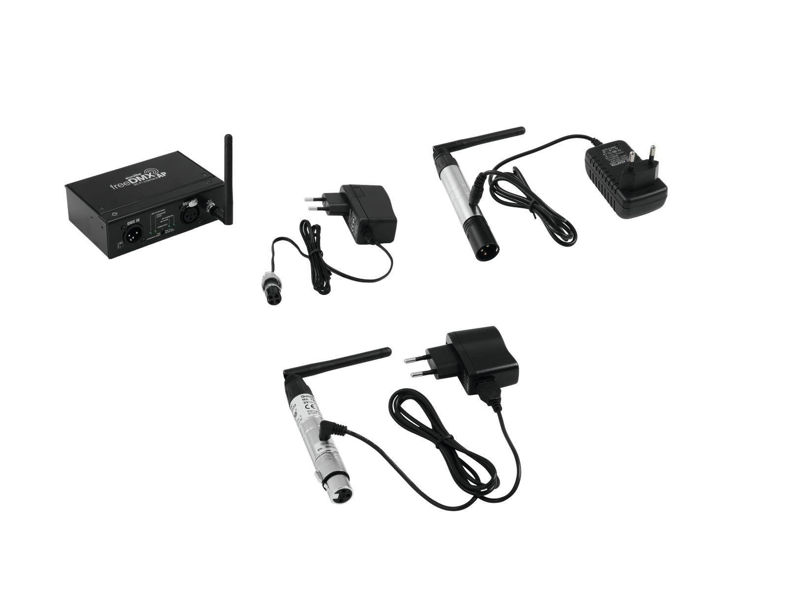 EUROLITE Set freeDMX AP Wi-Fi Interface + QuickDMX Wireless tran