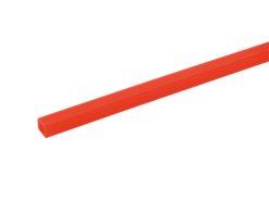 EUROLITE Tubing 10x10mm red UV-active 2m