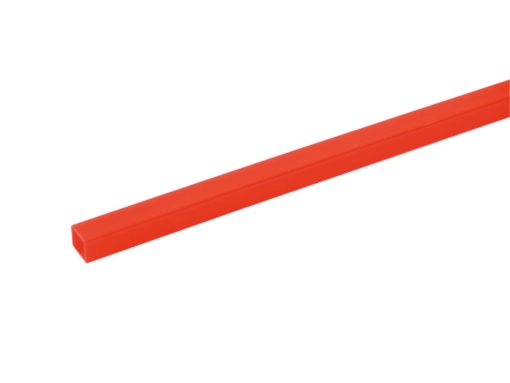 EUROLITE Tubing 10x10mm red UV-active 2m